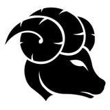 Zwart Aries Zodiac Star Sign Royalty-vrije Stock Foto's