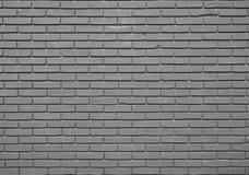 Zwart bakstenen muurpatroon Stock Foto