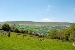Zwart bergenlandschap in Herefordshire Stock Foto's