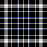 Zwart, blauw en wit plaid naadloos patroon Royalty-vrije Stock Foto