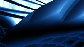Zwart blauw marine modern abstract fractal art. Complexe illustratie als achtergrond met gevarieerde structuren Stemming sc.i-FI  Stock Afbeeldingen