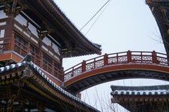 Zwart/Blauw/Qinglong Dragon Temple Xi ` China Stock Foto