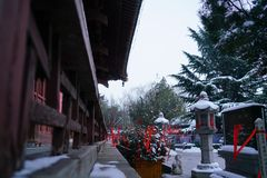 Zwart/Blauw/Qinglong Dragon Temple Xi ` China Stock Afbeeldingen