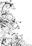 Zwart bloemenontwerp