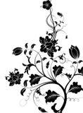 Zwart bloempatroon vector illustratie