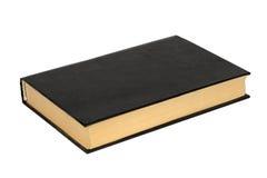 Zwart boek met een lege dekking (malplaatje) Royalty-vrije Stock Foto
