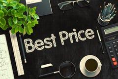 Zwart Bord met Beste Prijs het 3d teruggeven Royalty-vrije Stock Afbeeldingen