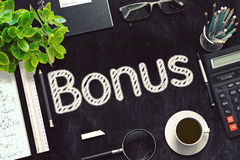 Zwart Bord met Bonusconcept het 3d teruggeven Stock Afbeeldingen