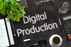 Zwart Bord met Digitale Productie het 3d teruggeven Royalty-vrije Stock Fotografie