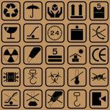 Zwart breekbaar symbool royalty-vrije illustratie