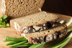 Zwart brood Royalty-vrije Stock Foto's