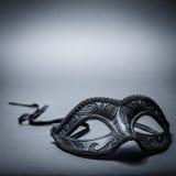 Zwart Carnaval masker royalty-vrije stock afbeeldingen