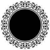 Zwart cirkelframe Stock Foto