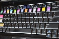 Zwart computertoetsenbord Royalty-vrije Stock Foto's