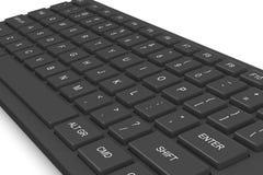 Zwart computertoetsenbord Stock Afbeeldingen