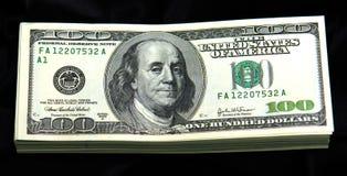 Zwart contant geld Stock Fotografie