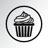 Zwart Cupcake-pictogram Vector illustratie stock illustratie