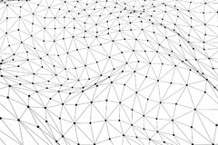 Zwart 3D laag polywireframenetwerk - het netwerk of cyber Internet bedriegt Stock Afbeelding