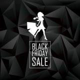 Zwart de affichemalplaatje van de vrijdagverkoop Speciale aanbiedingen Stock Foto
