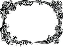 Zwart decoratief frame Royalty-vrije Stock Foto's