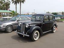 Zwart die Austin 12 in 1946 wordt en in Lima wordt tentoongesteld gemaakt die Royalty-vrije Stock Fotografie
