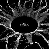 Zwart die gat van Vliegende Deeltjes wordt gemaakt abstracte achtergrond stock illustratie