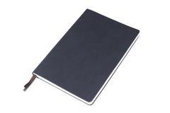 Zwart die leernotitieboekje op witte achtergrond wordt geïsoleerd royalty-vrije stock fotografie