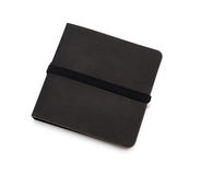 Zwart die notitieboekje over het wit wordt geïsoleerd Royalty-vrije Stock Foto