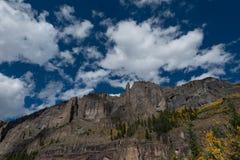 Zwart draag de Dalingskleuren Autumn Landscape van Colorado van het Pastelluride Royalty-vrije Stock Foto's