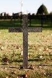 Zwart Duits oorlogskruis Stock Foto