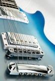 Zwart elektrisch gitaarlichaam Royalty-vrije Stock Foto's