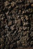 Zwart en bruin decoratief textuurpleister op de muur in openlucht Royalty-vrije Stock Foto's