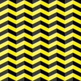 Zwart en geel chevron naadloos patroon Royalty-vrije Stock Afbeeldingen