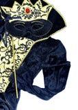 Zwart en gouden Carnaval-kostuum Royalty-vrije Stock Foto's