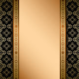Zwart en gouden ornament op achtergrond met gradiënt Stock Foto