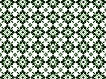 Zwart en Groen Patroon Stock Afbeelding
