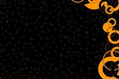 Zwart en Oranje Ontwerp Backgr Stock Fotografie