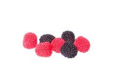 Zwart en rood bessensuikergoed royalty-vrije stock afbeeldingen