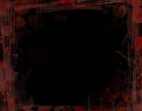 Zwart en Rood Frame Grunge Stock Fotografie