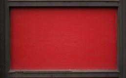 Zwart en rood houten frame stock afbeelding
