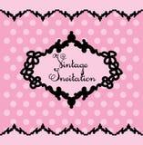 Zwart en roze uitstekend malplaatje Vector illustratie vector illustratie