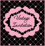 Zwart en roze uitstekend malplaatje Vector illustratie royalty-vrije illustratie