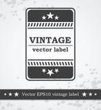 Zwart etiket met retro wijnoogst gestileerd ontwerp Royalty-vrije Stock Fotografie