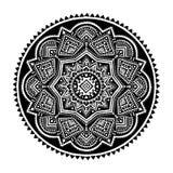 Zwart etnisch ornament Royalty-vrije Stock Foto