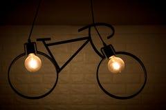Zwart fietslicht royalty-vrije stock foto