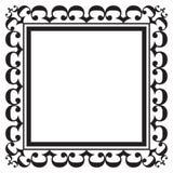 Zwart fotoframe Royalty-vrije Stock Afbeeldingen