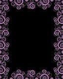 Zwart frame met draaien Stock Afbeelding