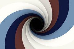 Zwart gat in een blauw vector illustratie