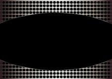 Zwart gat in grungemetaal Stock Afbeeldingen