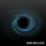 Zwart gat Kosmos Zwart gat in ruimte Sterren en materiële dalingen in een zwart gat stock illustratie